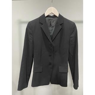 アンタイトル(UNTITLED)の美品アンタイトル UNTITLEDスーツジャケットスカートSアウター黒レディース(スーツ)