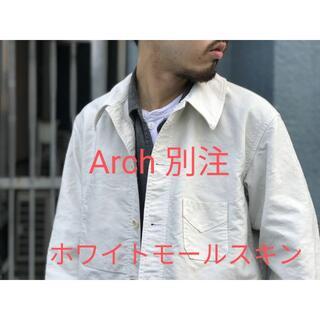 COMOLI - 【試着のみ】AUBERGE Arch 別注 ホワイトモールスキンジャケット 42