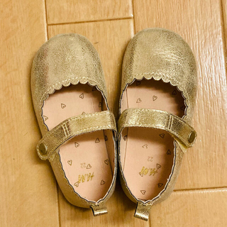エイチアンドエム(H&M)の美品 H&M バレエシューズ 13 ゴールド 靴 フラットシューズ ハロウィン(フラットシューズ)