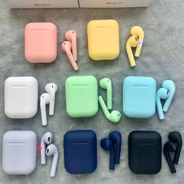 iPhone(アイフォーン)の最新♪ワイヤレスイヤホン マカロン✴︎メタリックカラー 新品 送料無料✴︎ スマホ/家電/カメラのオーディオ機器(ヘッドフォン/イヤフォン)の商品写真
