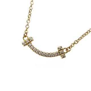 Tiffany & Co. - ティファニー Tスマイル ネックレス ダイヤ AU750 18KYG ペンダント