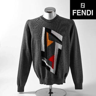 フェンディ(FENDI)の新品 2019AW FENDI ニット グレー 46(ニット/セーター)