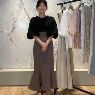 snidel - SNIDEL ハイウエストヘムフレアツイルスカート 店舗限定商品