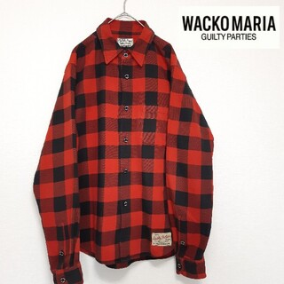 WACKO MARIA - WACKOMARIA ワコマリア ネルシャツ 長袖 チェック柄 赤×黒 M