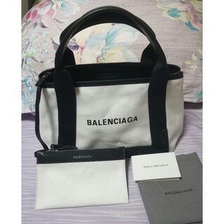 Balenciaga - BALENCIAGA☆ネイビーカバS トートバッグ