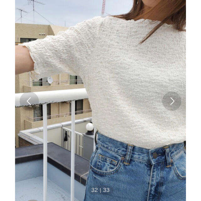 LOWRYS FARM(ローリーズファーム)のLUREM / クシュクシュクレープT  ※新品未使用タグ付き! レディースのトップス(Tシャツ(半袖/袖なし))の商品写真