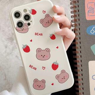 iPhone11 ケース くま いちご 韓国 ♡