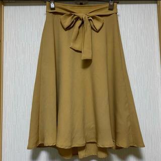 ロペピクニック(Rope' Picnic)のロペピクニック ウエストリボン付きフレアースカート 秋色(ひざ丈スカート)