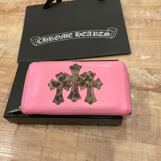 Chrome Hearts(クロムハーツ)のクロムハーツスリークロスピンク メンズのファッション小物(長財布)の商品写真