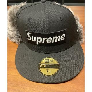 Supreme - supreme earflap newera BLACK