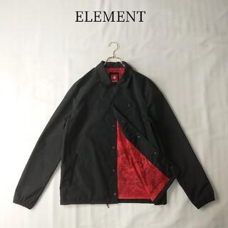 ELEMENT - ELEMENT コーチジャケット ナイロン Mサイズ ブラック 裏地 迷彩柄