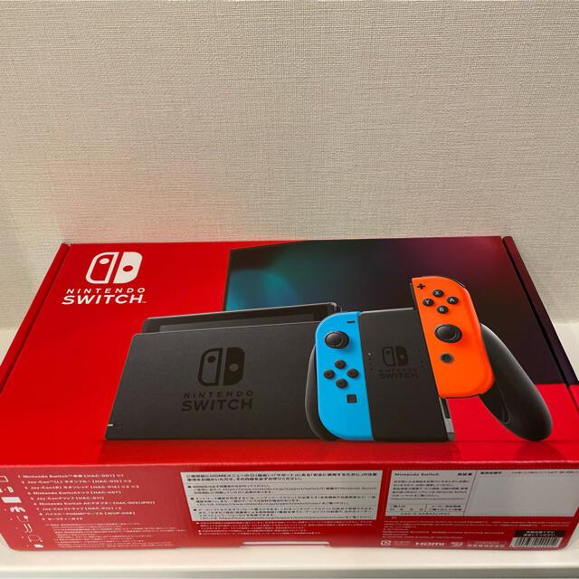 Nintendo Switch(ニンテンドースイッチ)のニンテンドースイッチ 本体 ネオンブルー/ネオンレッド エンタメ/ホビーのゲームソフト/ゲーム機本体(家庭用ゲーム機本体)の商品写真