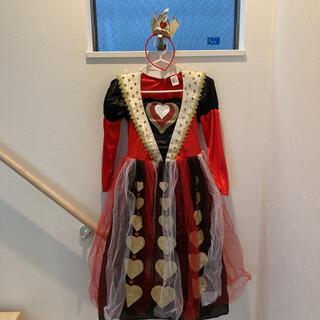 ハロウィン アリス ハートの女王 衣装  王冠セット 女の子130〜140 仮装