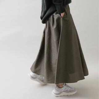 IENA - IENA デザインシャンタンギャザーフレアースカート 36