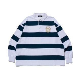 エクストララージ(XLARGE)の【新品未使用品】XLARGE RUGBY STRIPE SHIRT(ポロシャツ)