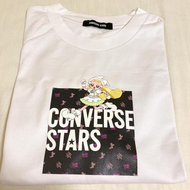 CONVERSE(コンバース)のコンバーストウキョウ おジャ魔女どれみ コラボ 新品 Tシャツ はなちゃん レディースのトップス(Tシャツ(半袖/袖なし))の商品写真