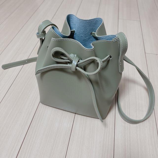 ピスタチオカラー/ステッチショルダーバッグ レディースのバッグ(ショルダーバッグ)の商品写真