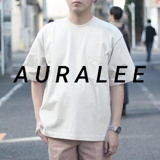 AURALEE オーラリー スタンドアップ Tシャツ 5 IVORY BEIGE