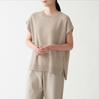 MUJI (無印良品) - コットンレーヨン フレンチスリーブセーター