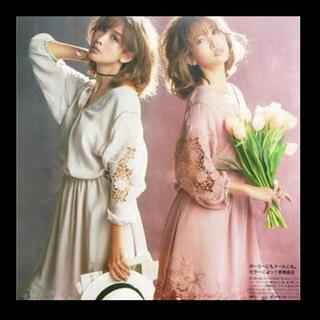 ココディール(COCO DEAL)の【美品】COCO DEAL 刺繍ワンピース ◆Sweetコラボ(ひざ丈ワンピース)