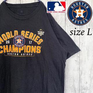 【MLB】ヒューストン・アストロズ Tシャツ 半袖 メジャー L 古着
