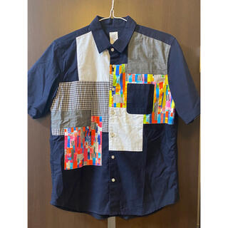 グラニフ(Design Tshirts Store graniph)の美品 グラニフ シャツ Mサイズ パッチワーク(シャツ)