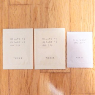 THREE - THREE スリー クレンジングオイルジェル エマルジョン 乳液 サンプル