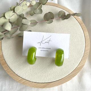 color hoop earrings-green-