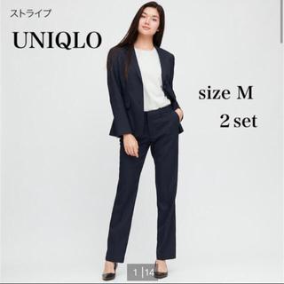 UNIQLO - お値下げ!美品 UNIQLO ユニクロ パンツスーツ セットアップ ストライプ
