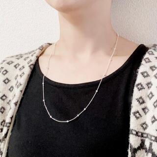 Ane Mone - ★新品★ 大人気 シルバー925 デザインポールチェーン ロング ネックレス