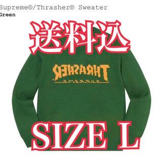 Supreme - Supreme®/Thrasher®Sweater Green L シュプリーム