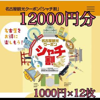 名古屋シャチ割クーポン♥12000円分