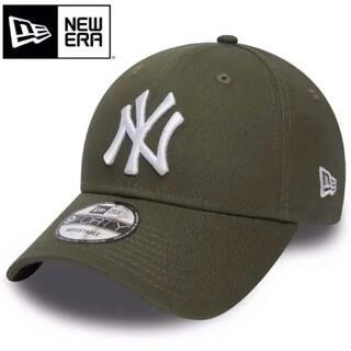 NEW ERA - ニューエラ キャップ NY ヤンキース 緑 グリーン カーキ オリーブ 白ロゴ