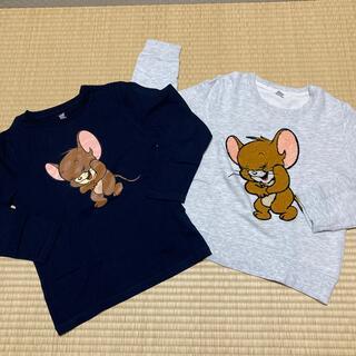 Design Tshirts Store graniph - トムとジェリー トレーナー&長袖Tシャツセット