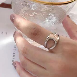 トゥデイフル(TODAYFUL)の★再入荷★ シルバー925 ハーフメタル 太リング(リング(指輪))
