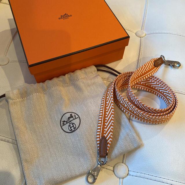 Hermes(エルメス)の【希少・超美品】エルメス バンドリエール  ショルダーストラップ オレンジ レディースのバッグ(ショルダーバッグ)の商品写真