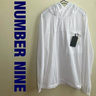 ナンバーナイン(NUMBER (N)INE)のNUMBER NINE アノラックパーカー フーディー サイズ3 ホワイト(パーカー)