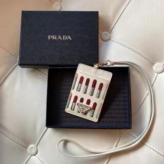 PRADA - 【希少】プラダ PRADA カードケース IDケース 名刺入れ ネックストラップ