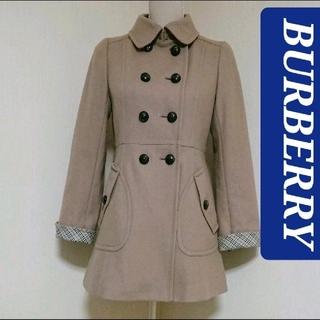 バーバリーブルーレーベル(BURBERRY BLUE LABEL)の雑誌掲載 BURBERRY バーバリー ブルーレーベル ウール コート 38(ピーコート)