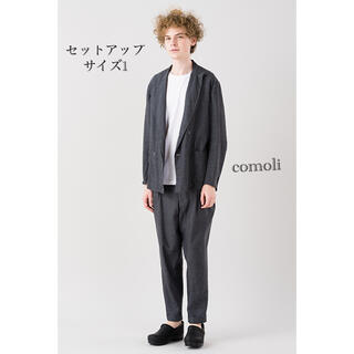 コモリ(COMOLI)のCOMOLI 2015 AW WOOL LINEN SET UP 美品(セットアップ)