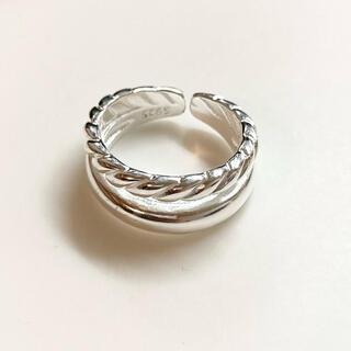 エモダ(EMODA)の★再入荷★ 2連 シルバー925 デザイン リング(リング(指輪))