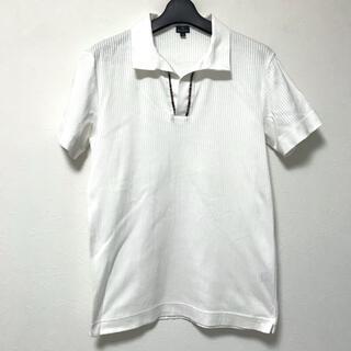 ポールスミス(Paul Smith)の定1.5万 PSポールスミス ストライプ織りスキッパーポロシャツM(ポロシャツ)