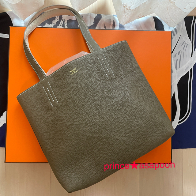 Hermes(エルメス)の新品★HERMES エルメス★ドゥブルサンス ドゥブルセンス エトゥープ×クレ レディースのバッグ(トートバッグ)の商品写真