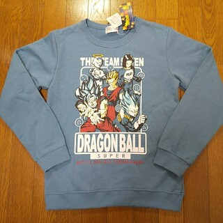 ドラゴンボール(ドラゴンボール)の150cm 新品  ドラゴンボール スーパー  トレーナー  裏毛  青(Tシャツ/カットソー)