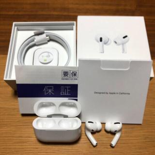 アップル(Apple)のApple AirPodsプロ 保証書付 付属品有 (ヘッドフォン/イヤフォン)