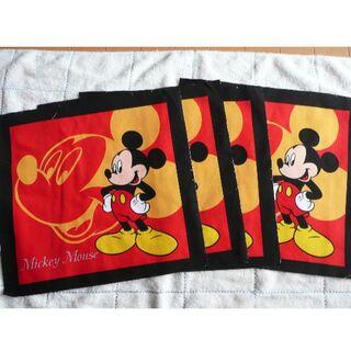 ミッキーマウス(ミッキーマウス)のミッキーマウス 布地4枚セット(生地/糸)