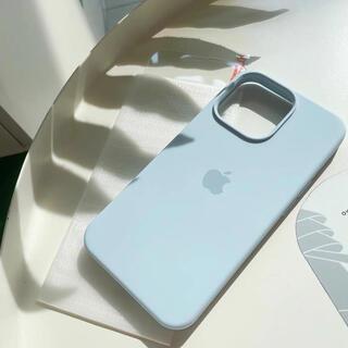 Iphone13 proケース 新品 サックス色 衝撃吸収 ガラスフィルム(iPhoneケース)