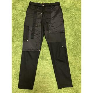 sacai - sacai 20aw fabric combo pants ブラック001