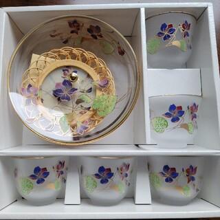 東洋佐々木ガラス - 佐々木クリスタル 茶菓揃「花の香り」 東洋佐々木ガラス 冷茶グラスセット