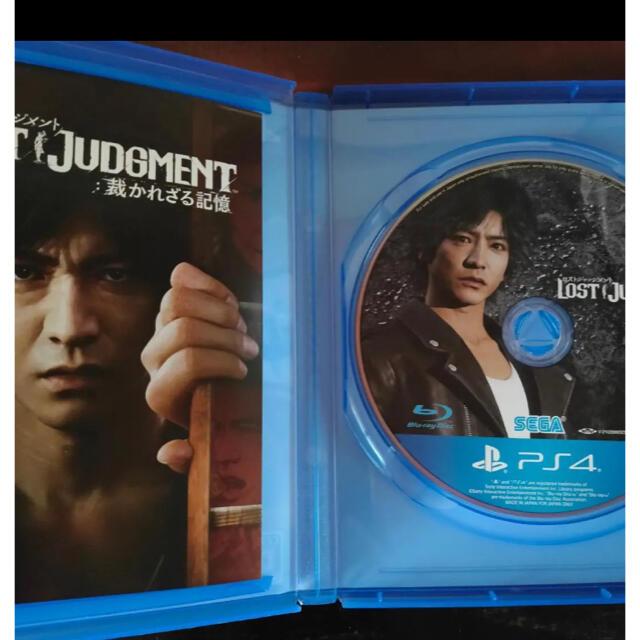 PlayStation4(プレイステーション4)のPS4 ロストジャッジメント エンタメ/ホビーのゲームソフト/ゲーム機本体(家庭用ゲームソフト)の商品写真
